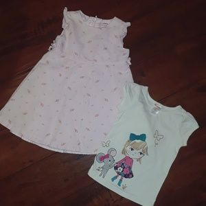Bundle Gymboree girls Dress & Top sz 12-18mo